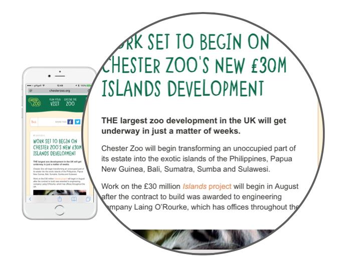 ChesterZoo Press Article