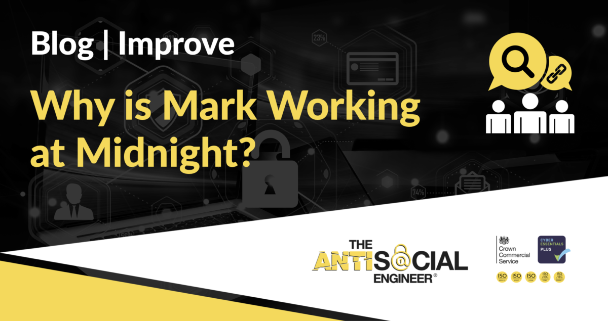 """Image reading """"why is Mark working at midnight?"""""""