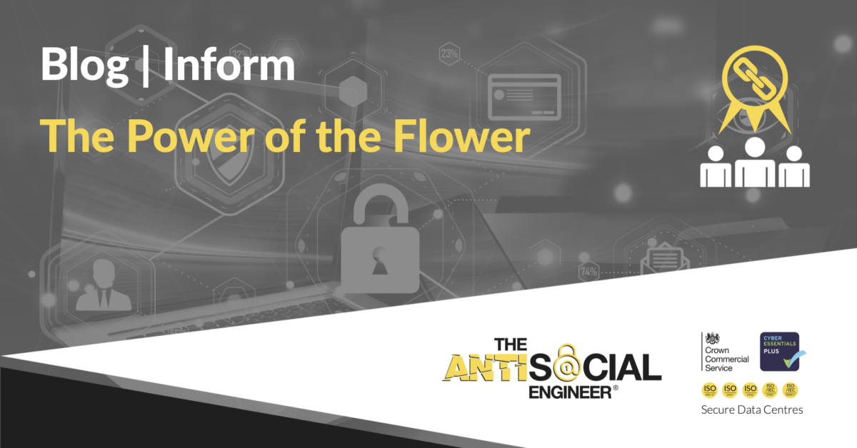 Feature image containing the words Blog, Inform, The Power of the Flower