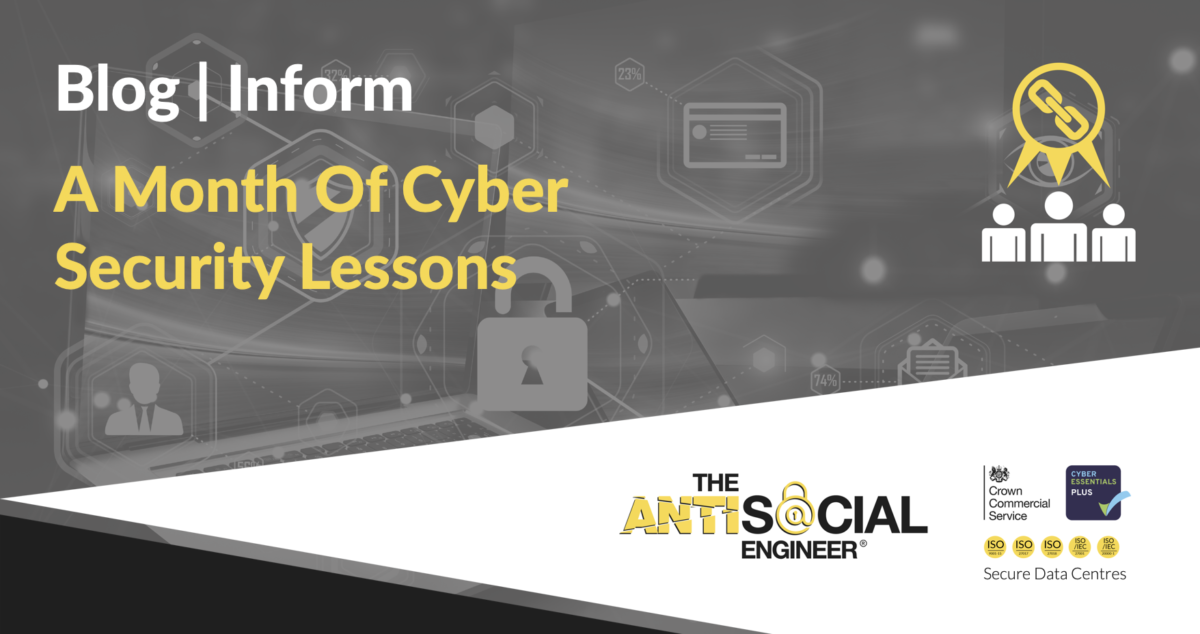 """Image with text """"a month of cyber security lessons"""""""